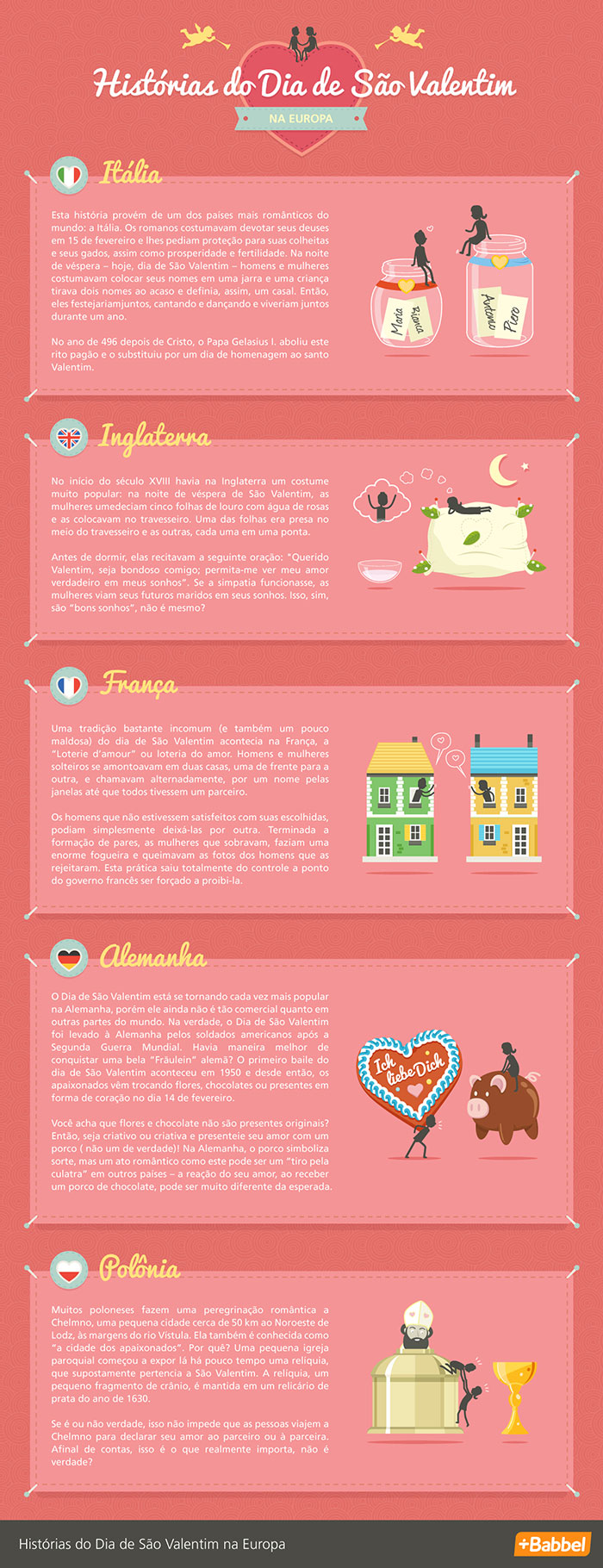 Histórias do Dia de São Valentim na Europa