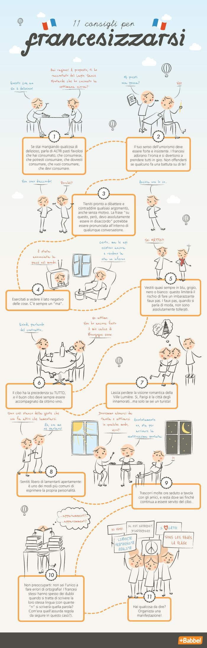 Undici consigli per francesizzarsi