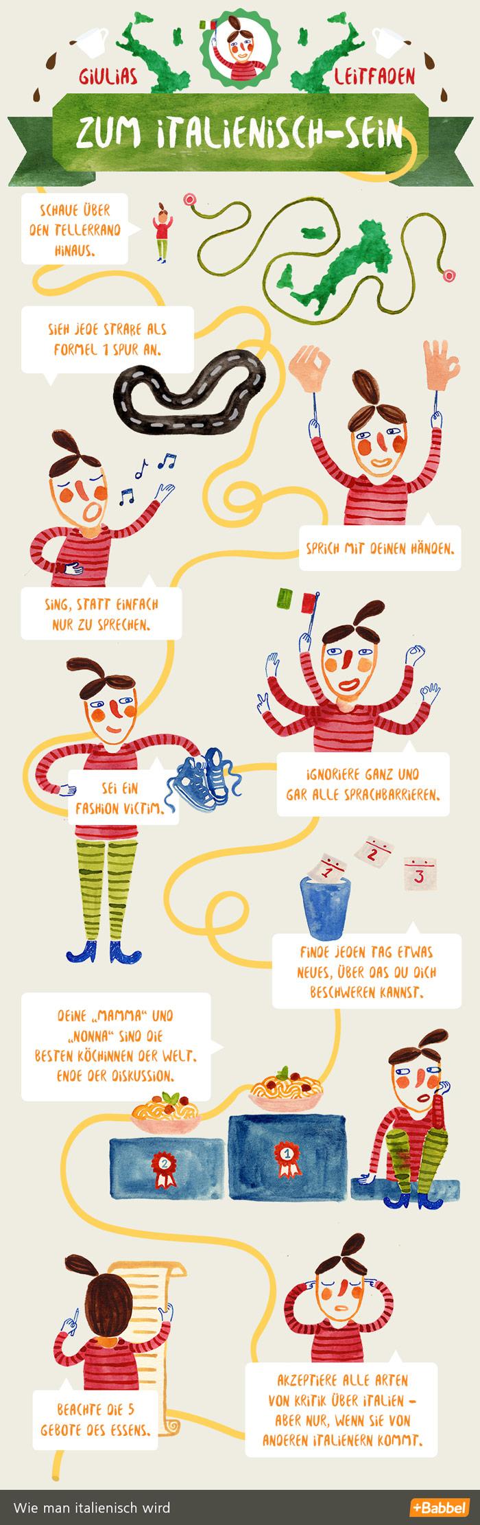10 Schritte, um italienisch zu werden
