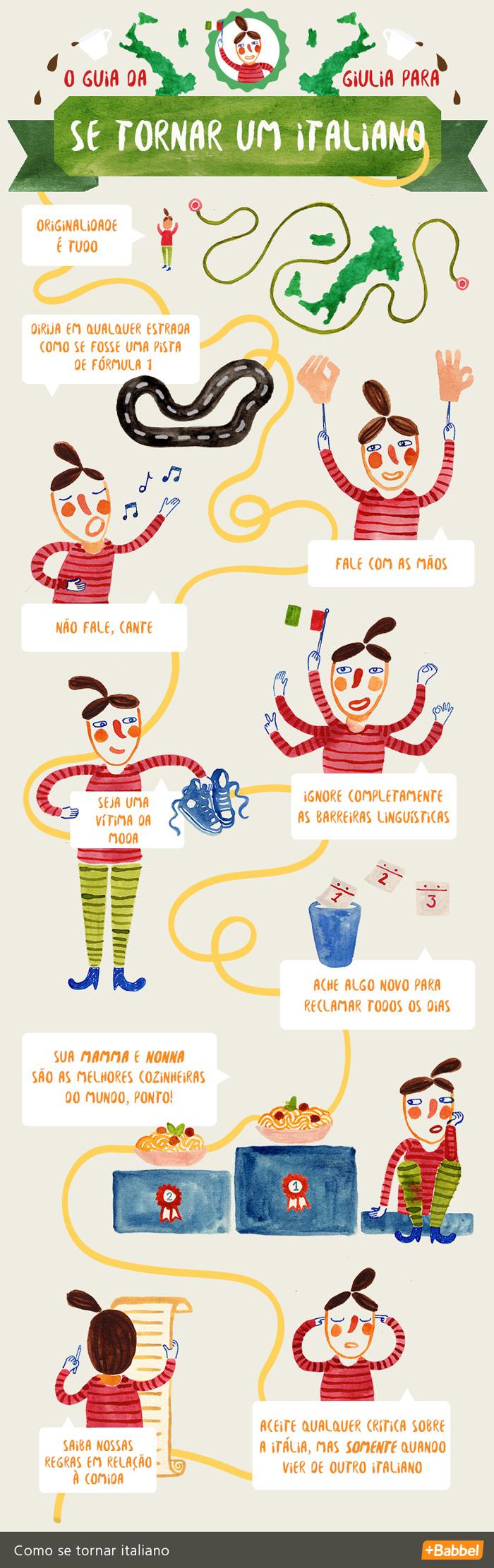 """10 passos para se """"italianizar"""""""