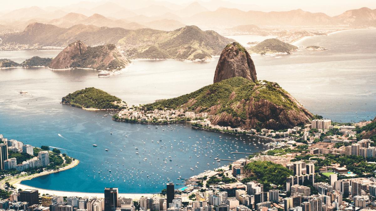 Brazil landscape photo how many people speak Portuguese