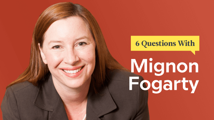 6 Questions With Grammar Girl Mignon Fogarty