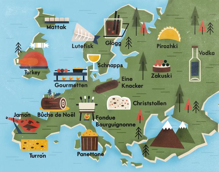 Tradições gastronômicas no Natal: pratos deliciosos da Europa