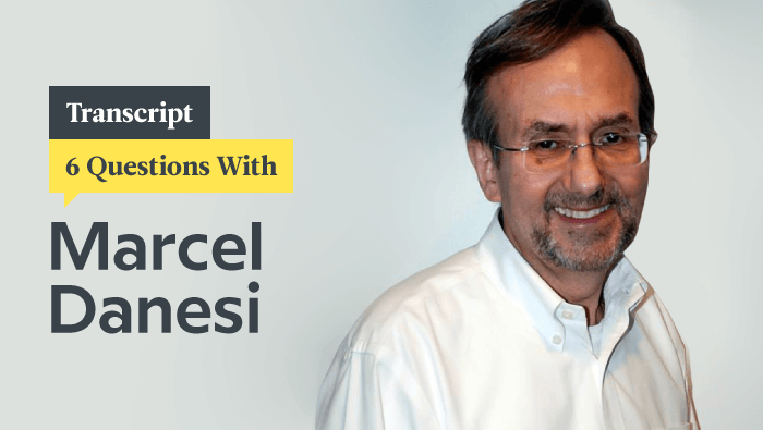 6 Questions With Emoji Scholar Marcel Danesi: Transcript