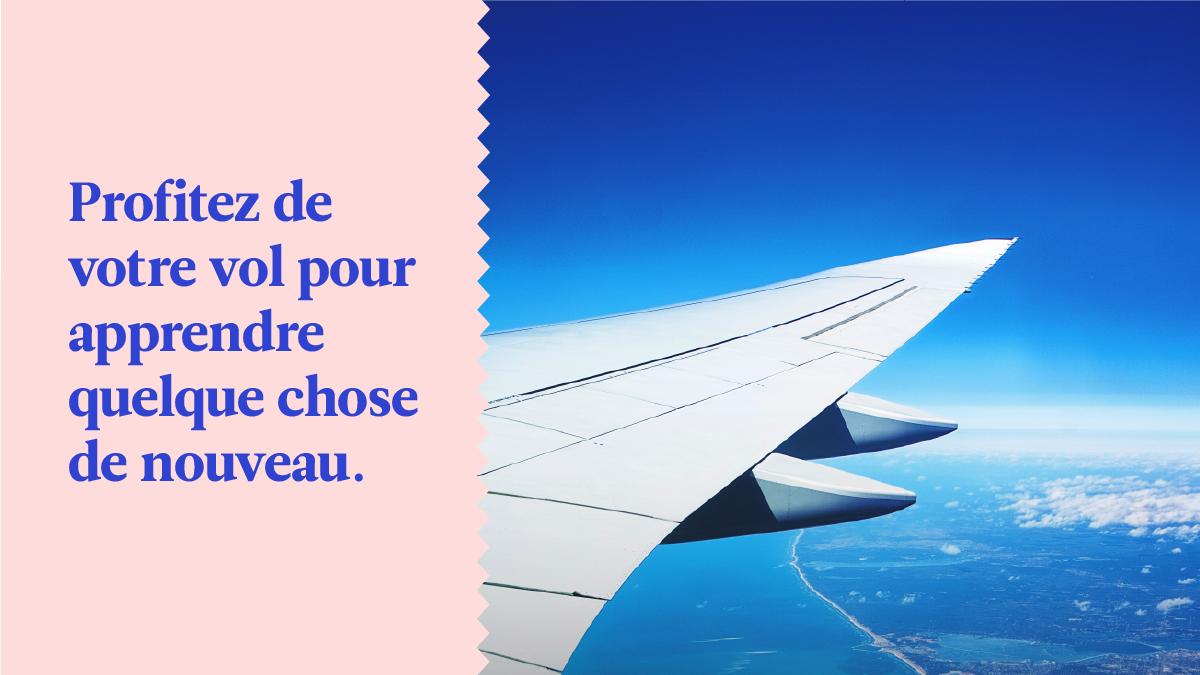Profitez de votre trajet en avion pour faire quelques leçons Babbel, même sans internet