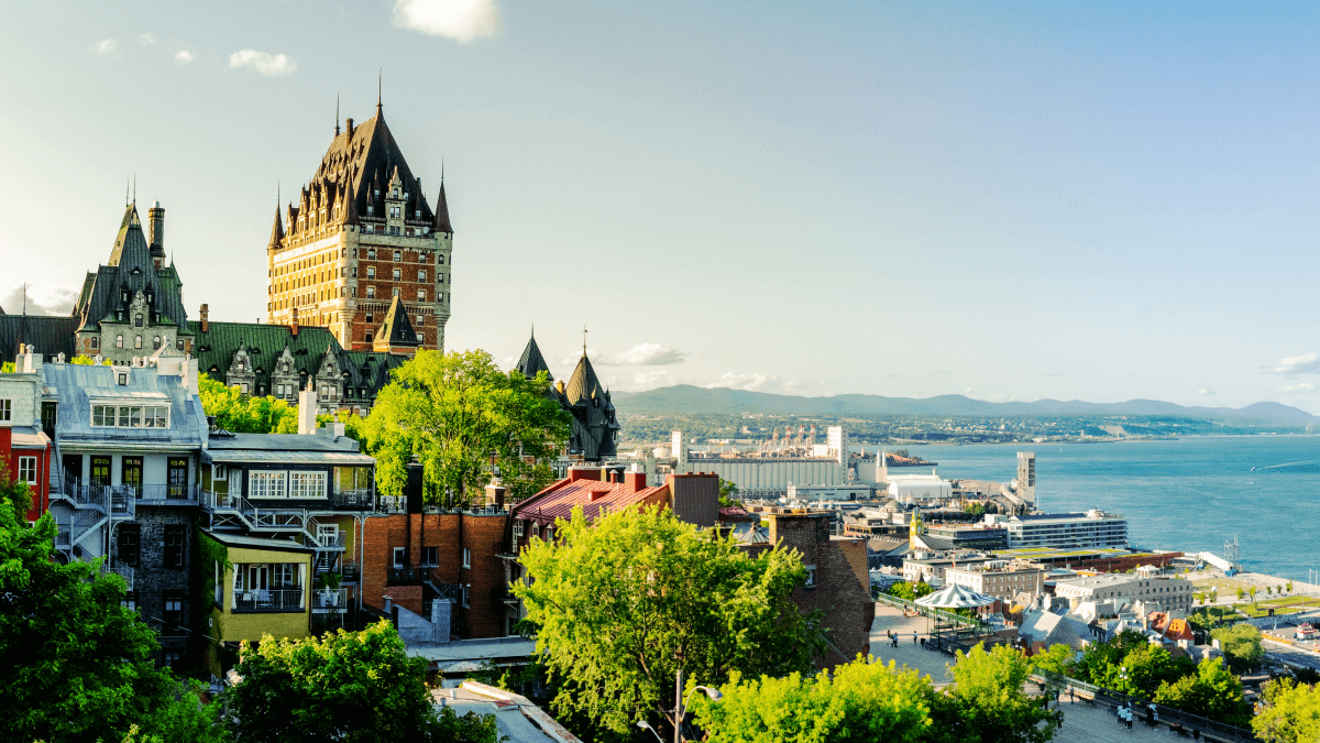 view of quebec city canadian french quebecois