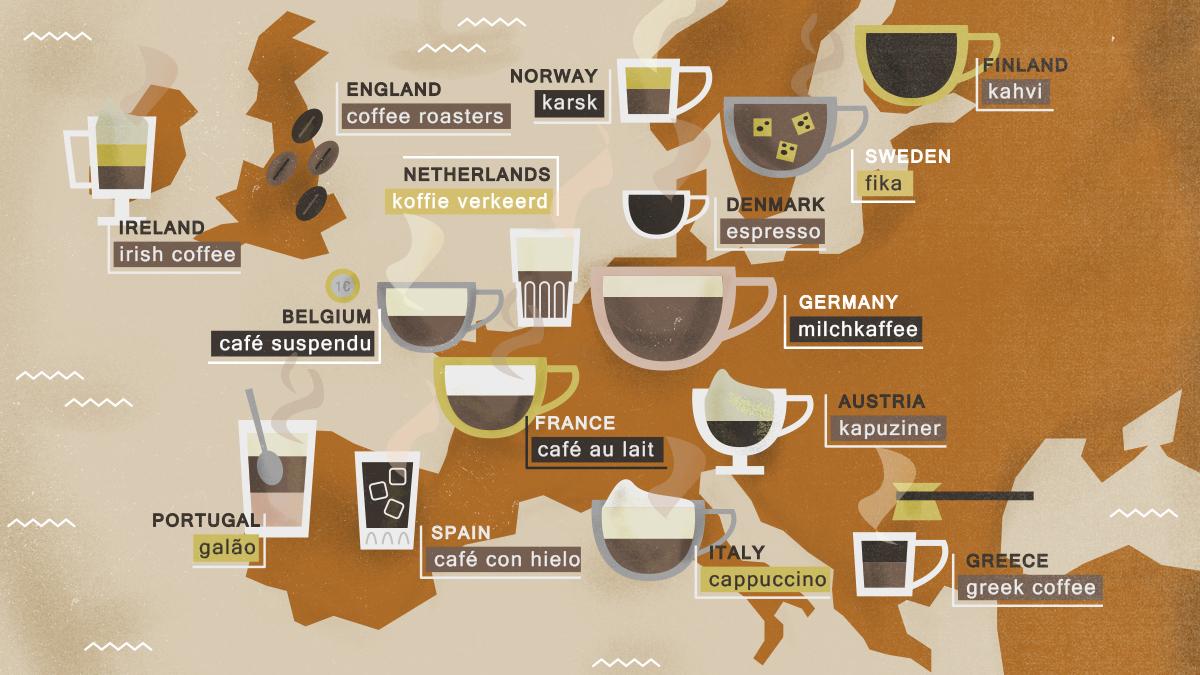 Wie die Europäer Kaffee trinken – Gemeinsamkeiten und Unterschiede