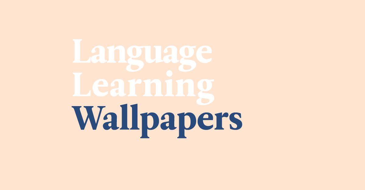 language wallpaper