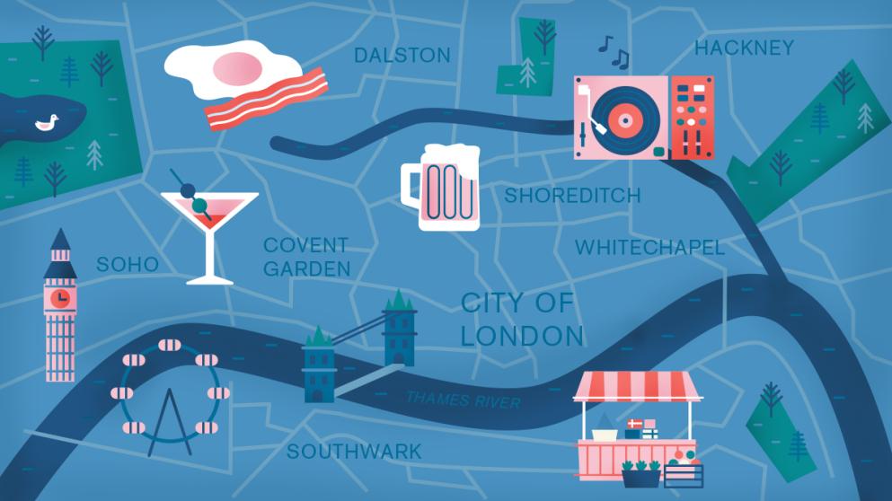 10 lugares em East London para deixar sua viagem mais animada