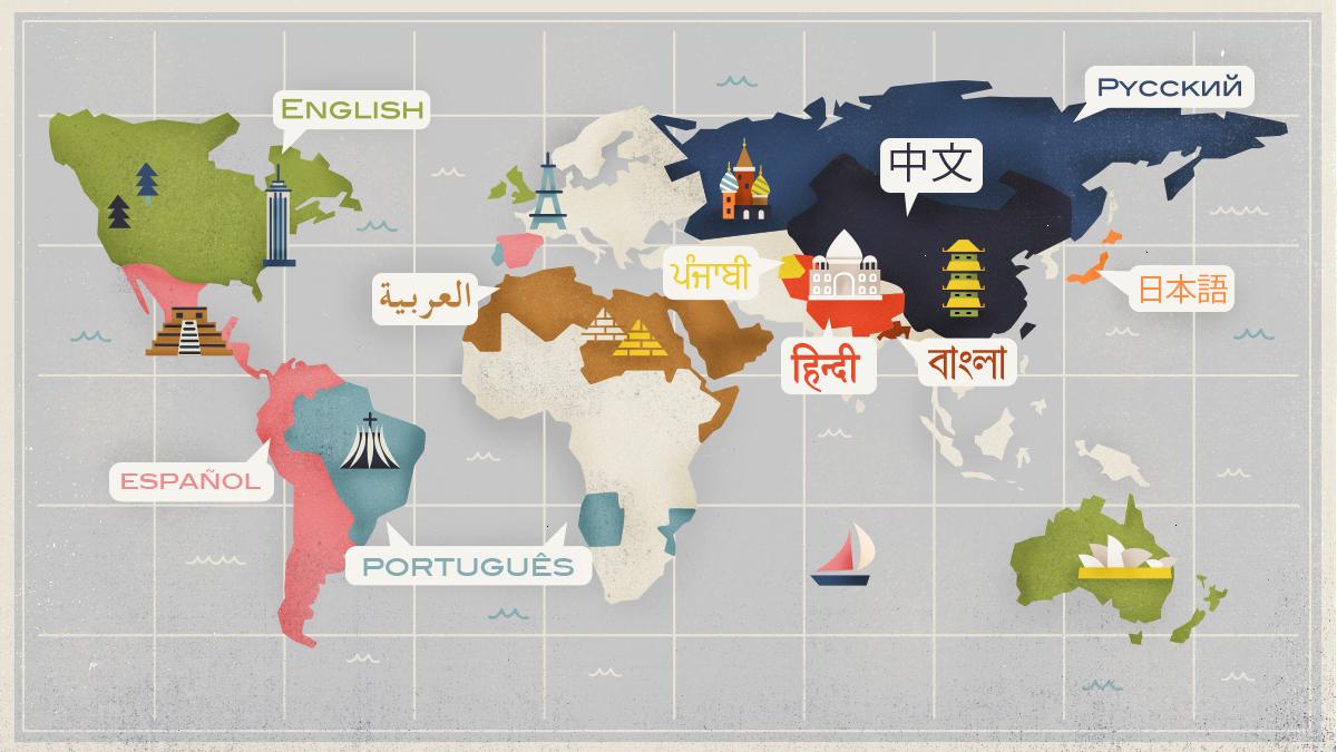 Was sind die 10 meistgesprochenen Sprachen auf der Welt?