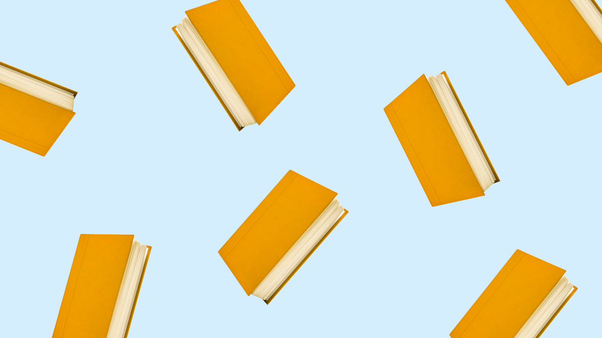 free-floating book pattern to represent english books for learners