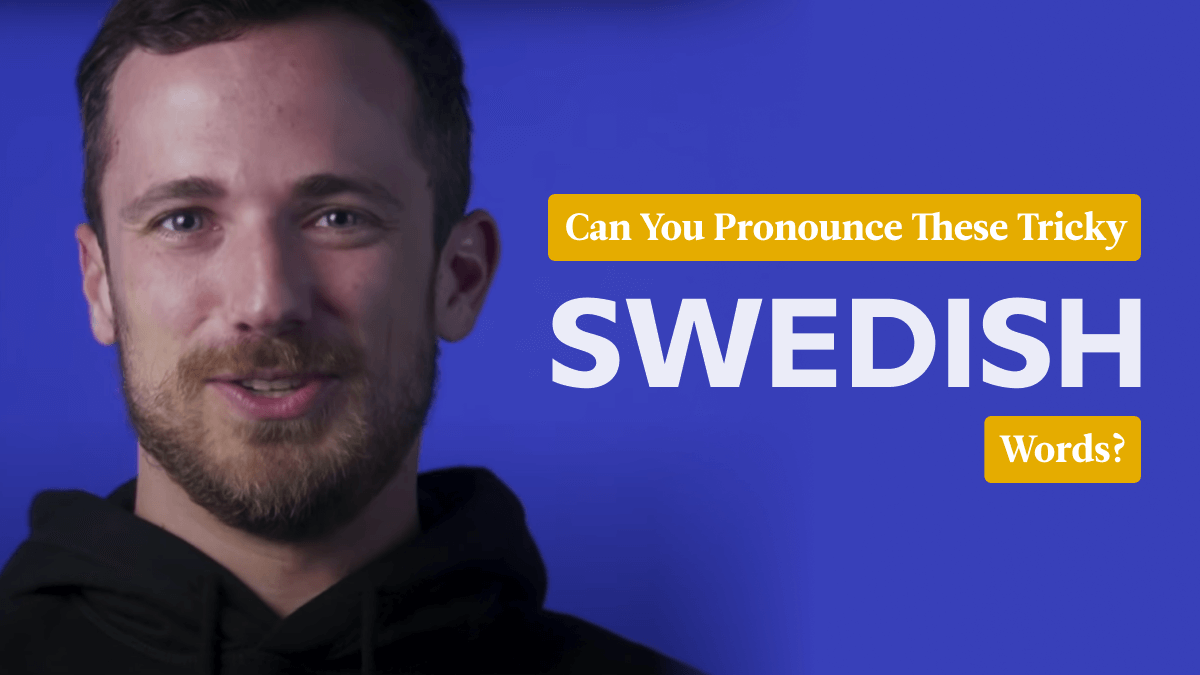 blonde man against blue background can you pronounce difficult swedish words