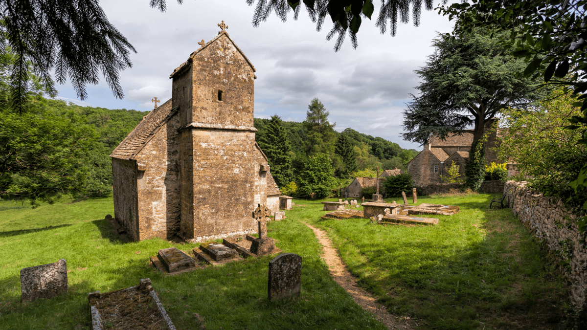 An old English church to represent old English words