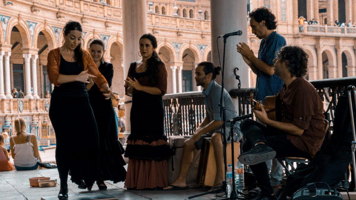 live flamenco performance outside flamenco terms